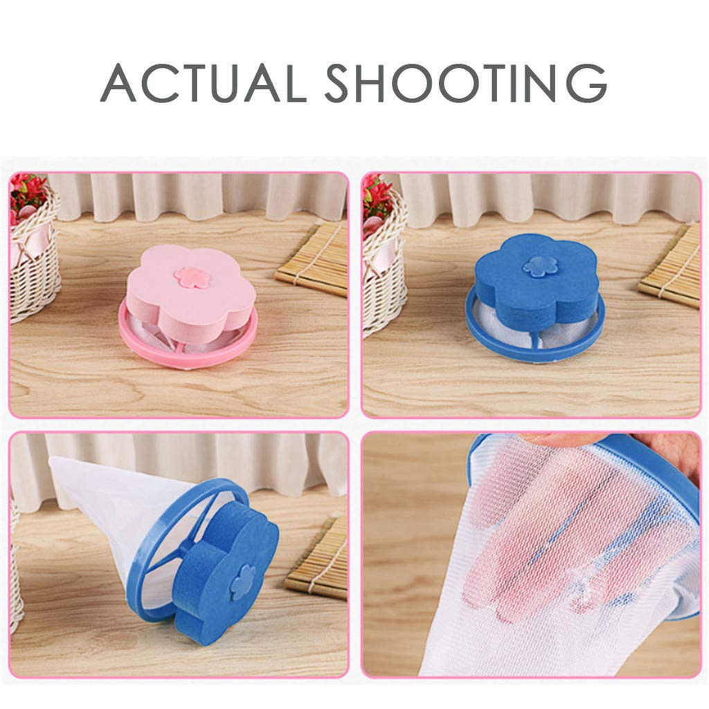 Home Laundry Washing Machine Filter Bag Floating Lint Hair Catcher Mesh Pouch