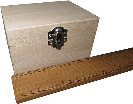 FILORO - Cajas de madera para decorar recuerdos de Deco, tamaño pequeño, grande, para manualidades, caja de