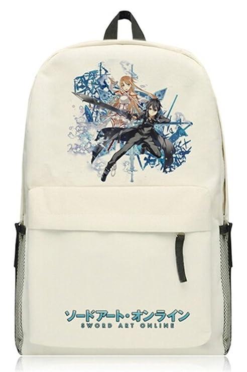 yoyoshome Sword Art Online Anime Kirito cosplay mochila mochila bolso de escuela
