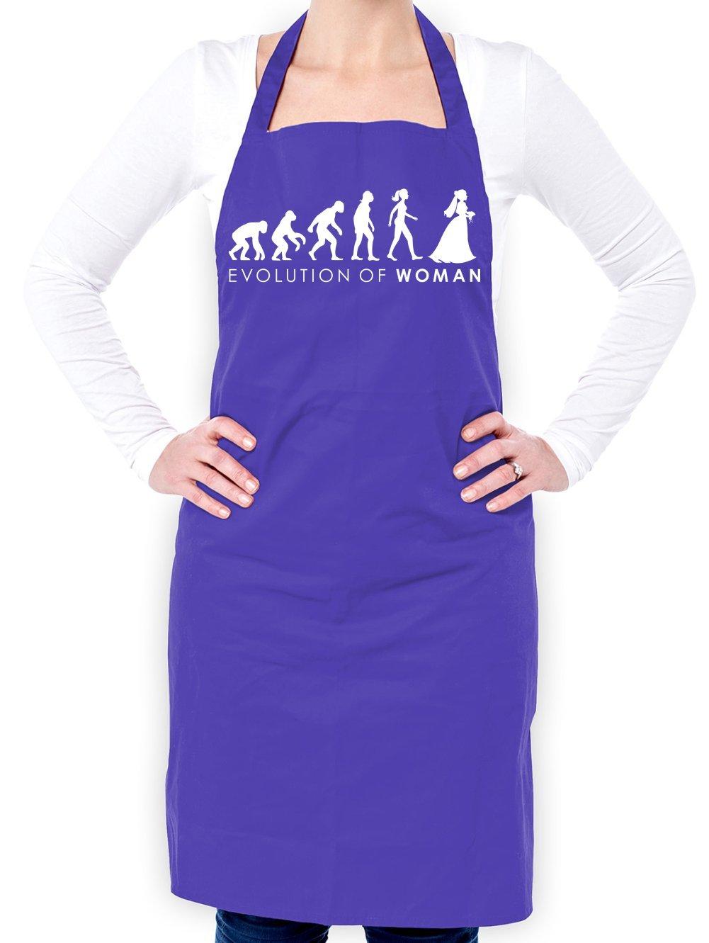 Dressdown Evolution of Woman - Bride - Unisex Adult Apron - Purple - One Size