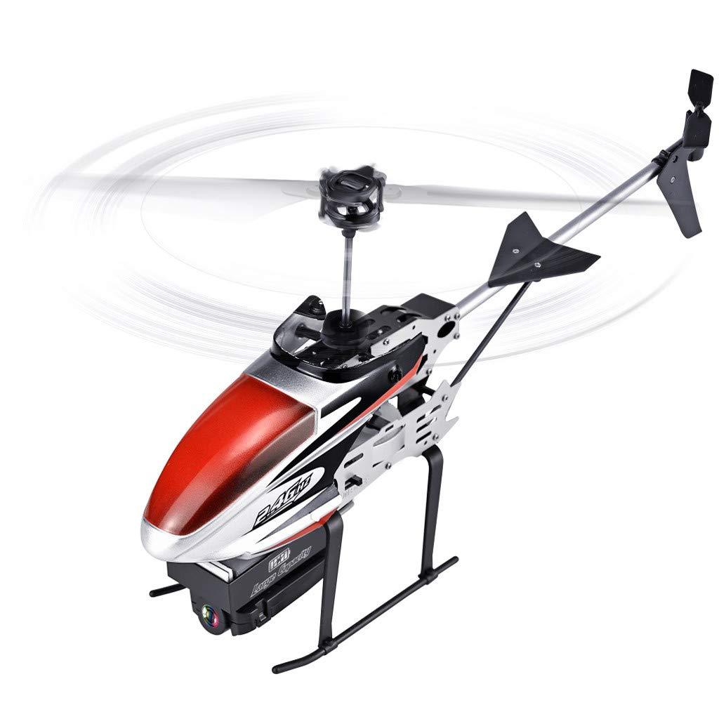 TANLANG Remote Control Helicopter Aerial Photography 2.4GHz 3.5CH RC 1080P WiFi Camera FPV RC Helicopter Quadcopter Drone Hover (Red) by TANLANG