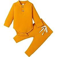 Pijamas para bebés recién Nacidos, Pantalones de Mameluco de Manga Larga, Trajes para bebés, Acanalados, a Rayas, Otoño…