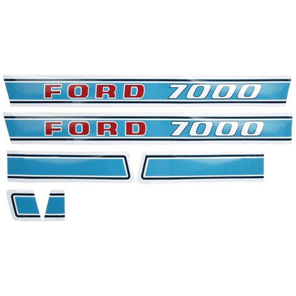 1971 /& Up New Hood Decal Set for Ford Tractor 7000 Diesel