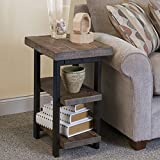 Alaterre AMBA0220 Pomona 2 Shelf End Table in Rustic Natural,