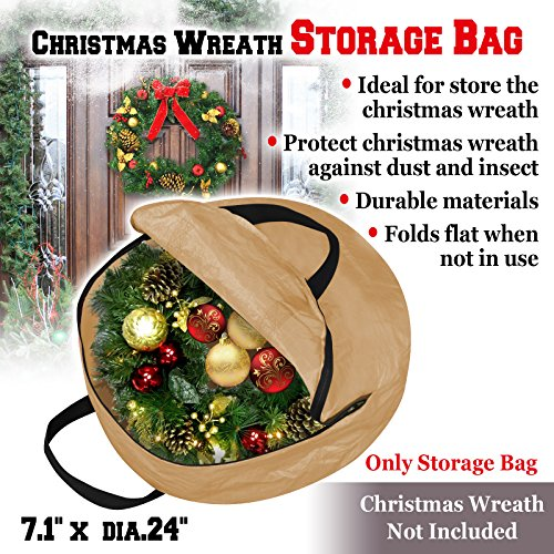 BenefitUSA Heavy Duty Christmas Wreath Storage Bag