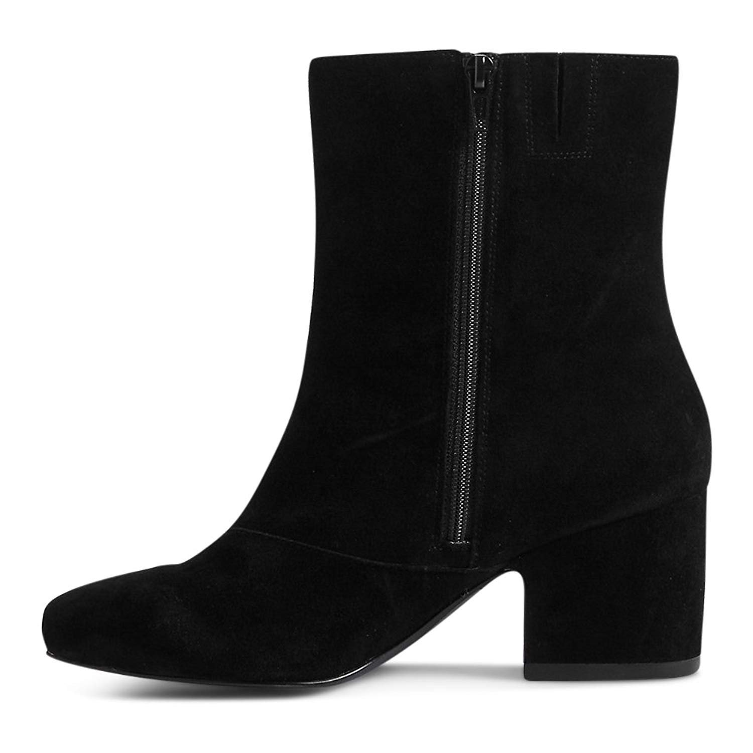 3f4df8ec70d Ex Marks   Spencer M S Collection T026340W Wide Fit Suede Block Heel Ankle  Boots RRP £65 - Black - UK 8  Amazon.co.uk  Shoes   Bags
