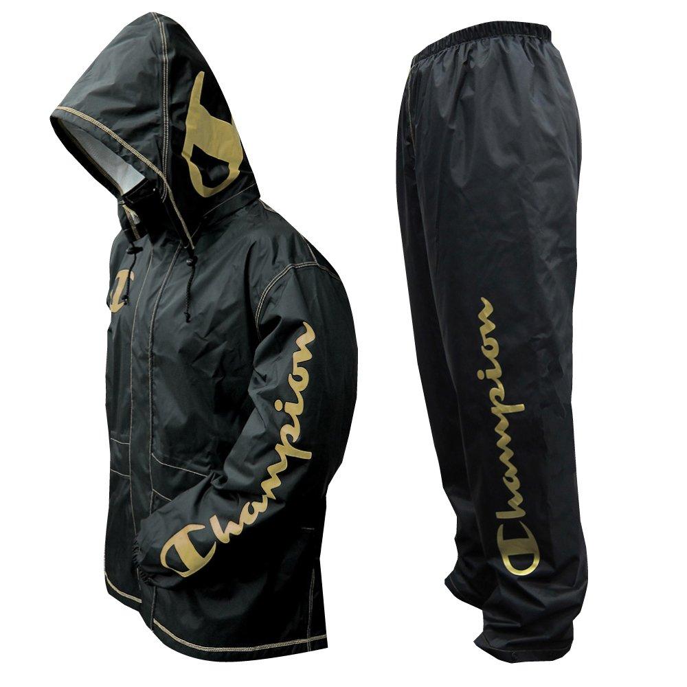 チャンピオン 上下スーツ ゴールド L 透湿 1.5層レイヤー 止水テープ 155676 B0182I55BK Large|ゴールド ゴールド Large
