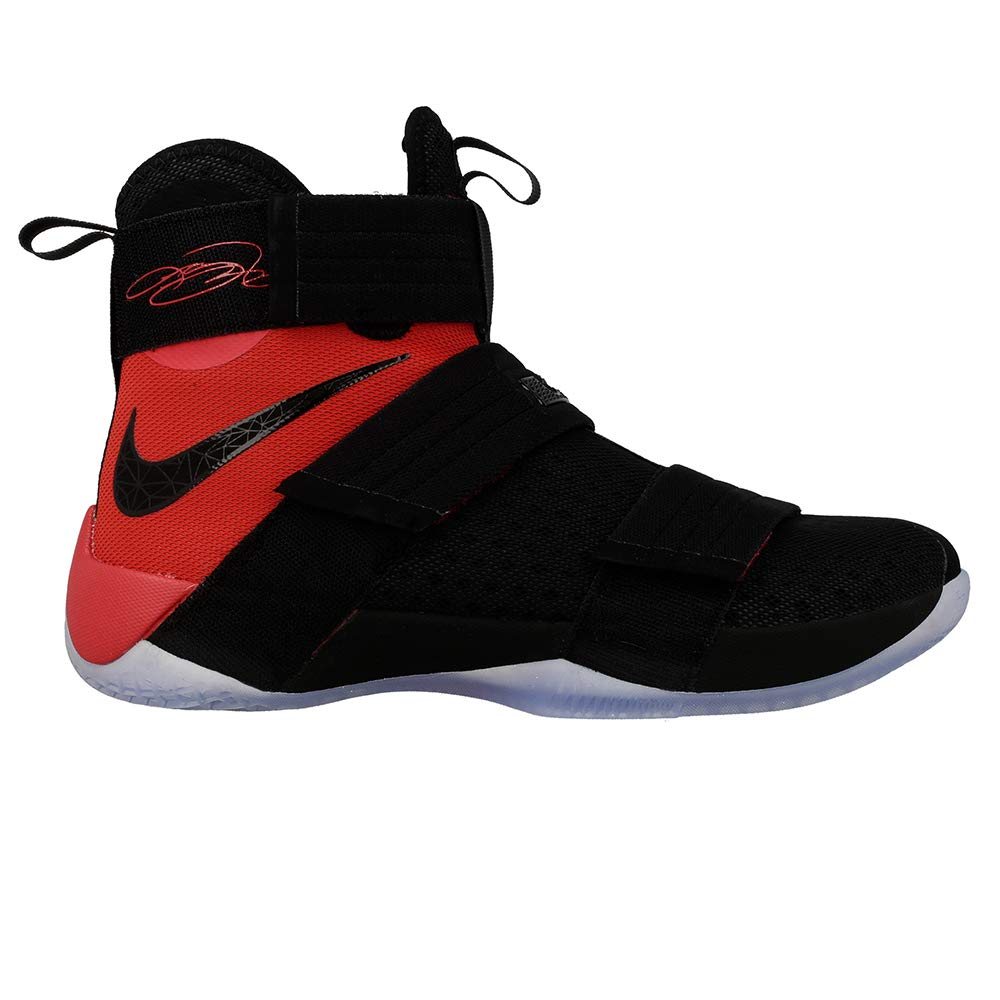 buy online 00023 0aa8d Amazon.com | Nike Mens Lebron Soldier 10 SFG Basketball Shoe 10 D(M) US,  Black/Black-university Red, 10 D(M) US | Basketball