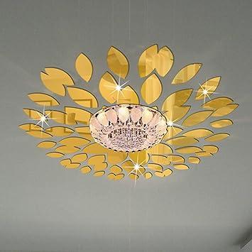 Amazon.com: Fashion Leaves Combination Wall Art 3D DIY Acrylic ...