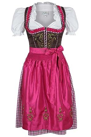 Damen Spieth & Wensky Dirndl Kurz braun-pink, braun-pink, ...