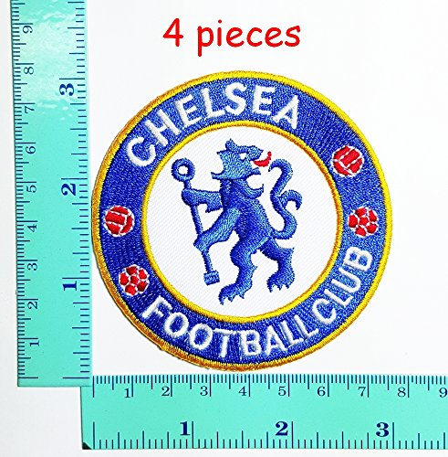 Chelsea Football Club Team Patch Logo Sew Iron on Embroidered Appliques Badge Sign Costume - Football Club Patch
