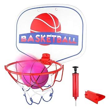 Symiu Canasta Baloncesto Tablero Baloncesto Juego Al Aire Libre y Interior Oficina Habitación Jardín Aro Baloncesto para Niños y Adultos (Incluyendo ...