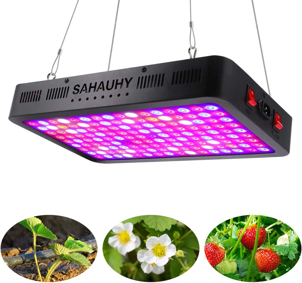 SAHAUHY 1500 Watt Grow Light for Indoor Plants Full Spectrum LED Growing Light for Greenhouse Veg and Flower with UV IR Double Chips 144pcs 10W