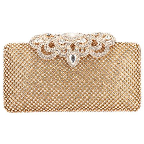 Bonjanvye Uk1550 Donna Poschette Giorno M Gold wwRrBq