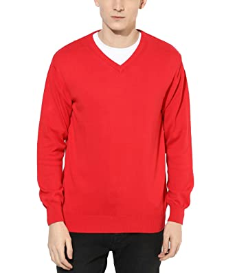 Super weston Plain Red sweater: Amazon.in: Clothing & Accessories