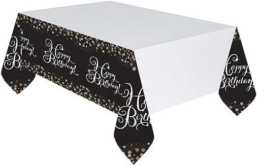Amscan 9900549, Mantel de Plástico para Mesa, Diseño Cumpleaños ...