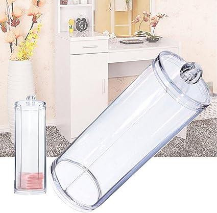 Transparente Scrox Coj/ín de algod/ón Caja acr/ílica para cosm/éticos Transparente cosm/éticos Maquillaje Soporte Organizador de Maquillaje Organizador de Joyas