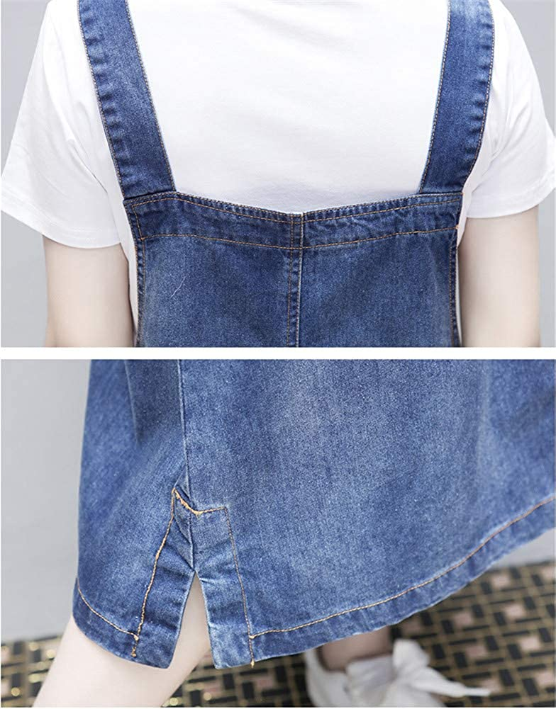 2024c5ea95a Aimeely Women Loose Casual Denim Overall Dress Suspender Jumper Jean Skirt  Plus Size at Amazon Women s Clothing store
