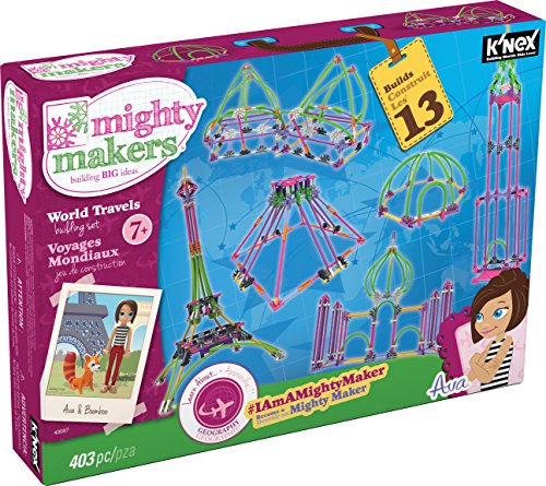 KNEX-Mighty-Makers-World-Travels-Building-Set-403-Pieces-Ages-7-Constructional-Education-Toy
