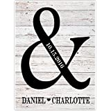 Personalized Ampersand Names Wall Art Decor - Wedding Gift for Couple