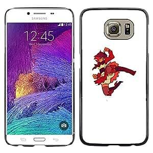 Shell-Star Arte & diseño plástico duro Fundas Cover Cubre Hard Case Cover para Samsung Galaxy S6 / SM-G920 / SM-G920A / SM-G920T / SM-G920F / SM-G920I ( Superhero Redhead Japanese Girl )