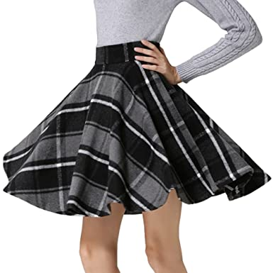 5878bf32faef Tanming Women s A-Line Plaid Skirts at Amazon Women s Clothing store