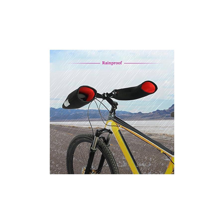 Docooler Cycling Handlebar Mittens Neoprene Rainproof MTB Motor Bar End Mitts Gloves Mountain Bike Hands Covers