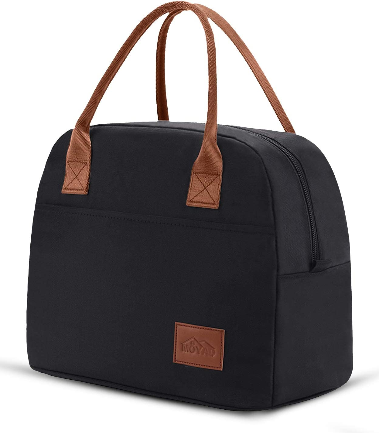 Moyad Lunch Bags for Women Insulated Lunch Bag Tote Adult Lunch Box Cooler Purse for Work 12L Black