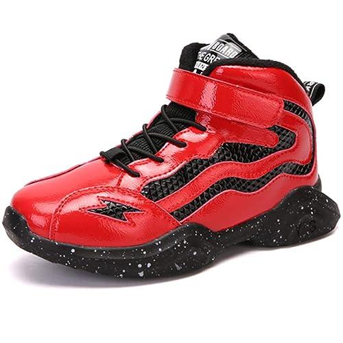 Kinder High Top Basketball Schuhe Jungen Sportschuhe M/ädchen Atmungsaktive Laufschuhe Kinder Rutschfeste Trainer