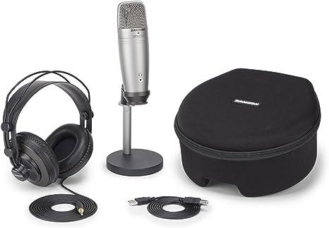 Samson C01U Pro Podcasting Pack Studio microphone Wired Silver ...