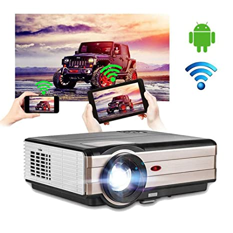 EUG WiFi Projector, 4200 Lumen LCD Home Movies Projector Wireless Bluetooth Support 200