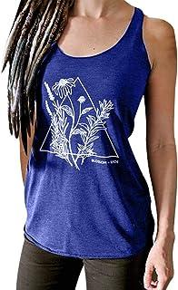 cureture Femmes sans Manches Impression De Fleurs Débardeurs DécontractéS O-Neck Épaules DénudéEs T-Shirt à Manches