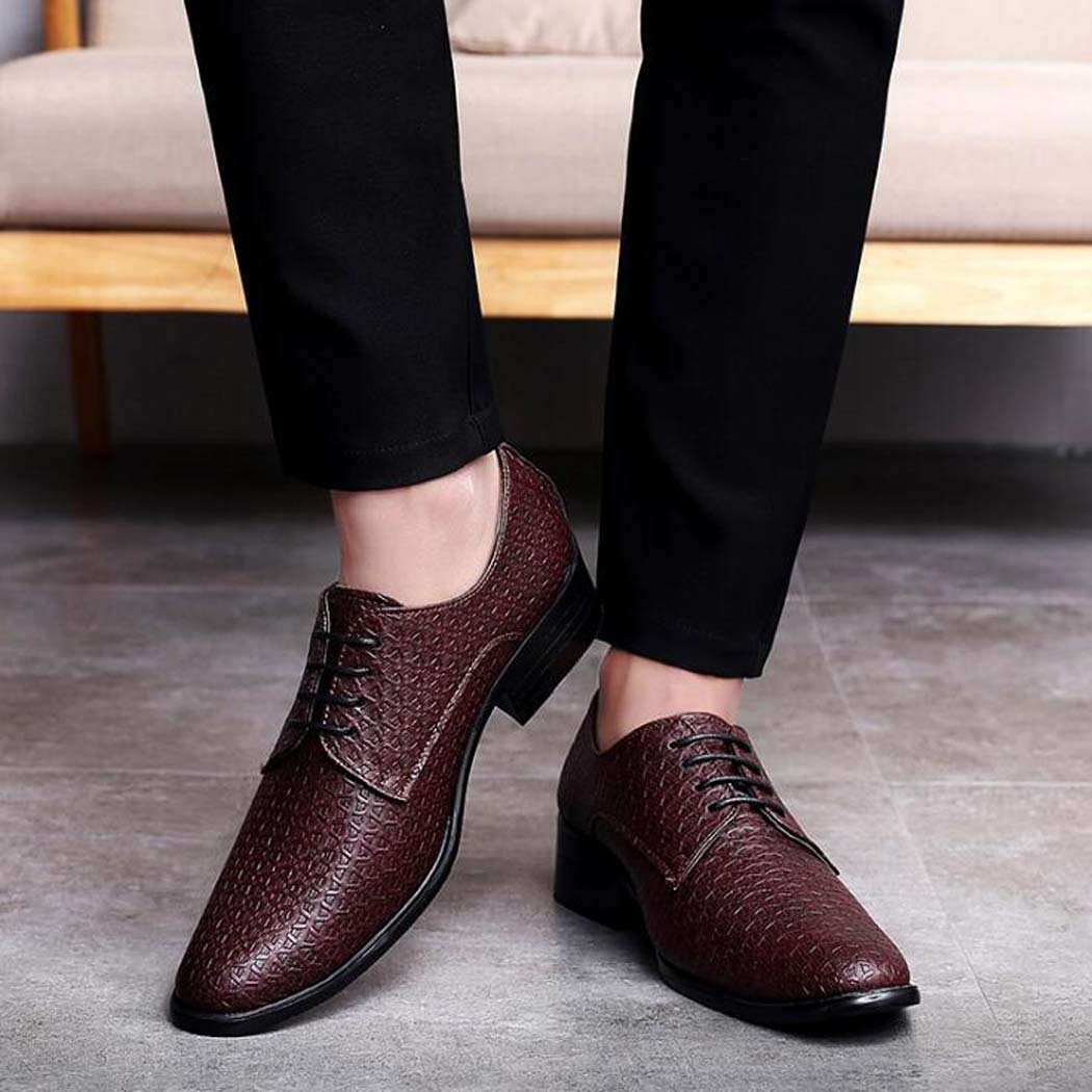 Herren Kleid Handgefertigtes Leder Modern Classic Lace up Leder gefüttert Kleid Herren Schuhe Formale Hochzeitsschuhe Braun 81a243