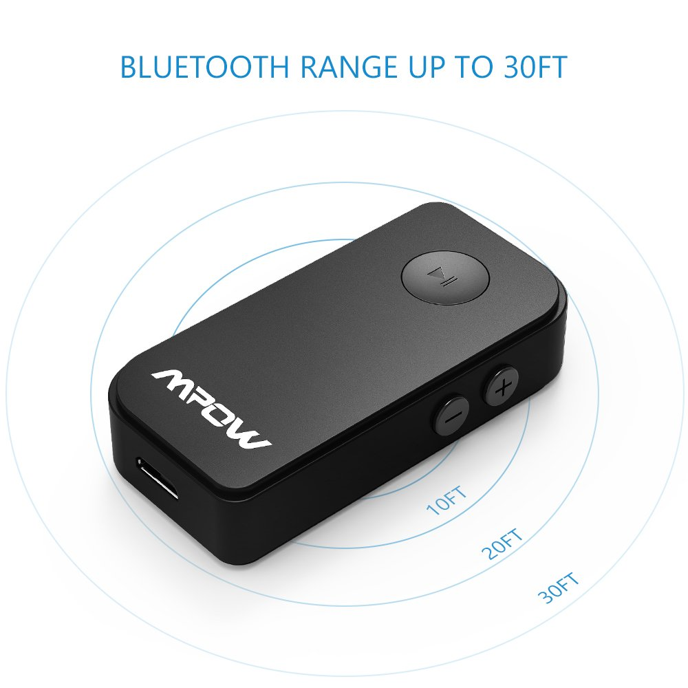 Portable Bluetooth 4.1 Car Adapter /& Bluetooth Car Kits for Music Streaming Sound System Hands-free Audio Adapter /& Wireless Car Adapter for Home//Car Audio Stereo System Mpow Bluetooth Receiver