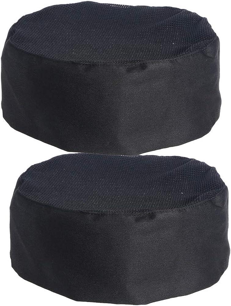 Chef Hat Skull Cap Professional Catering Chef/'s CAP White /& Black.