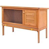 Rabbit Hutch Cage Pet Guinea Pig Chicken Coop Ferret Hen Run House Wooden Door