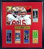 49ers super bowl tickets - SF 49ers Joe Montana & Jerry Rice Replica Super Bowl Ticket Display (SGA Signature Engraved Plate Series) Framed