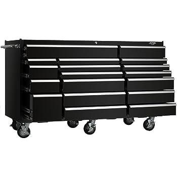 viper tool storage vp7218bl 72 inch 18 drawer 18g steel rolling tool cabinet black. Black Bedroom Furniture Sets. Home Design Ideas