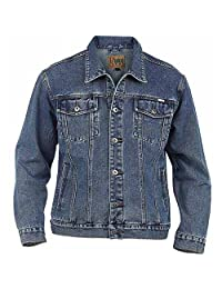 Duke Mens Kingsize Western Trucker Style Denim Jacket