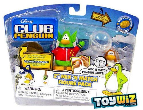Penguin Club Series Disney - Disney's Club Penguin Series 1 Mix 'N Match 2 Inch Mini Figure 2-Pack Space Alien and Spaceman by Jakks Pacific