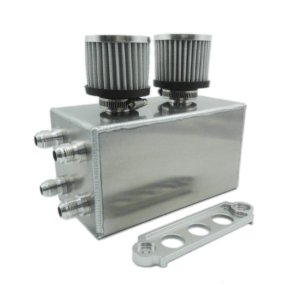 heinmo 4 puerto aceite Catch Can Kit Tanque Del Respiradero para Honda Civic Integra EK EG DC Acura Heinmo Plus