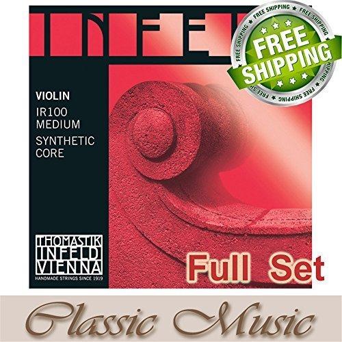 (Classic Music Thomastik Infeld-Red (IR100) Violin Strings Full Set 4/4 Ball End)