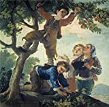 The Polyster Canvas Of Oil Painting 'Goya Y Lucientes Francisco De Boys Picking Fruit 1778 ' ,size: 12 X 12 Inch / 30 X 31 Cm ,this Best Price Art Decorative Canvas Prints Is Fit For Dining Room Artwork And Home Gallery Art And Gifts