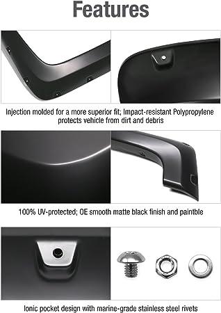 "For 94-02 Ram 1500-3500 5/"" ABS Plastic Pocket Riveted Style Wheel Fender Flares"