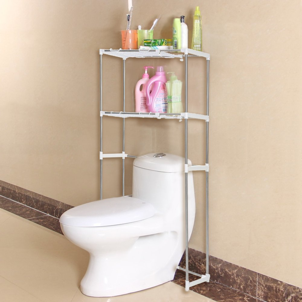 Amazon.com: IKayaa Steel 2 Layer Kitchen Bathroom Space Saver Cabinet  Storage Shelf: Kitchen U0026 Dining