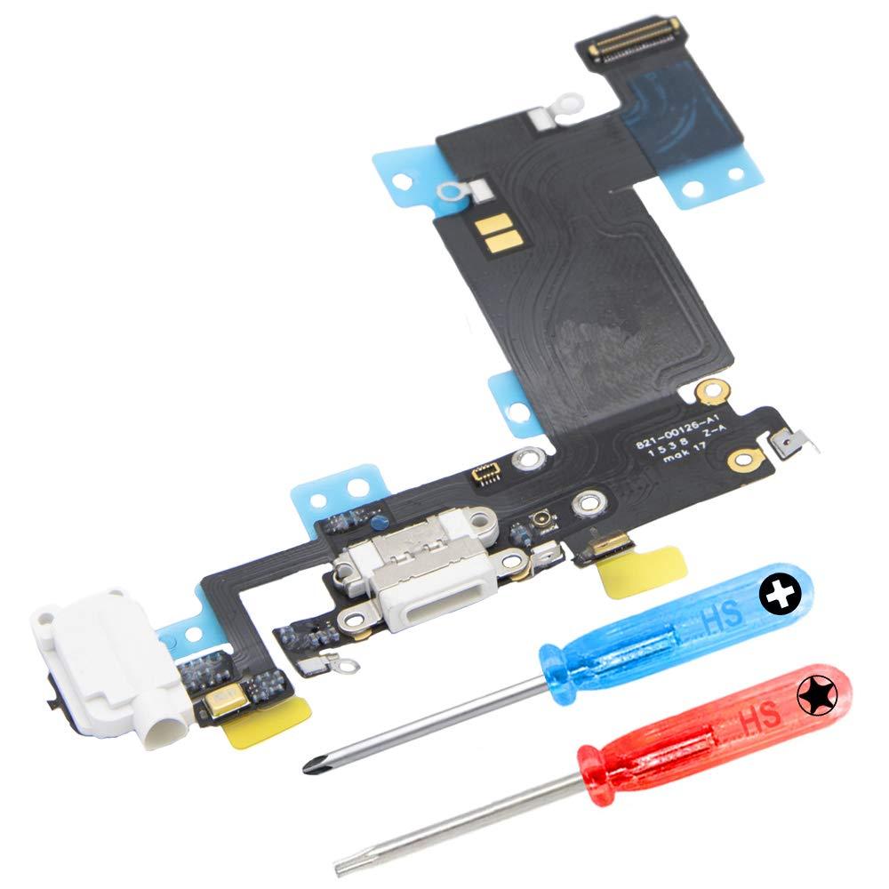 Puerto De Carga Para iPhone 6s Plus White Incl 2 X Destornil