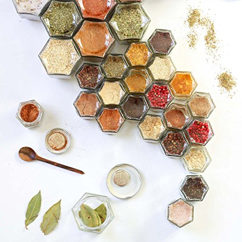 Organize spices with these magnetic jars.