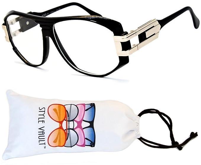 77238d53bc0 A172-vp Style Vault Flat Top Eyeglasses Sunglasses (B1762F Black-Clear