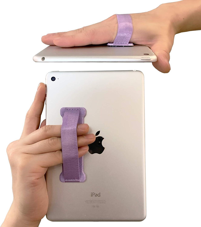 WUOJI Hand Strap Holder Finger Grip for Tablets -Universal Tablet Hand Strap Holder-Compatible with iPad Air/iPad Pro 9.7Inch / Tab 10.1Inch / Tab 4 10.1Inch / Tab Pro 10.1Inch / Tab S 10.5 (Purple)