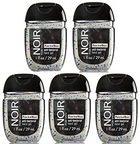 Bath & Body Works PocketBac Hand Sanitizer Gel Noir For Men Lot of 5 by Bath & Body Works